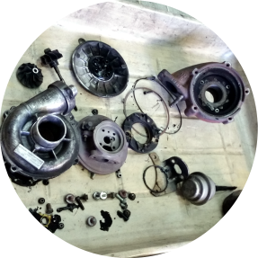 ocena stanu turbosprężarki.